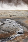 Active volcanic zone with Geothermical vents in Iceland — Stock Photo