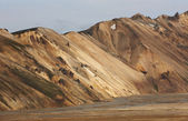 Volcanic landscape with rhyolite formations. — Stock Photo