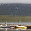 Dock with fishing-trawlers in Iceland — Stock Photo