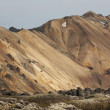 Stock Photo: Volcanic landscape with rhyolite formations in Iceland