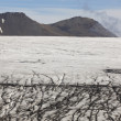Ice surface of Skalafelllsjokull glacier tongue in Iceland — Foto de Stock