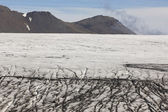 Ice surface of Skalafelllsjokull glacier tongue in Iceland — Stock Photo