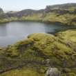 Iceland. South area. Lakagigar. Tjarnargigur. Volcanic crater wi — Stock Photo
