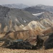 Iceland. South area. Fjallabak. Volcanic landscape with rhyolite — Stock Photo #36989087
