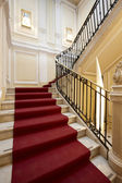 Palace entrance and marble stairway — Stock Photo