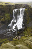 Iceland. South area. Lakagigar. Fagrifoss waterfall. — Stock fotografie