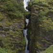 Stock Photo: Iceland. South area. Eyjafjalajokul zone. Waterfall nearby Selja