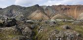 Iceland. South area. Fjallabak. Volcanic landscape with rhyolite — Stock Photo