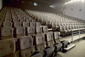 Modern big cinema auditorium interior — Stockfoto