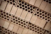 Pile of new bricks — Stock Photo
