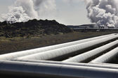 Iceland. Reykjanes Peninsula. Geothermal Plant and volcanic rock — Stock Photo