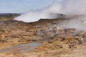 Iceland. Reykjanes Peninsula. Gunnuhver geothermal area. Boiling — Stock Photo