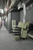 Corredor con maquinaria para salas de cine y proyectores — Foto de Stock