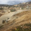 Iceland. South area. Fjallabak. Volcanic landscape with rhyolite — Stock Photo #41230367