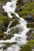Waterfall and basaltic rocks in Iceland.  — Stock Photo