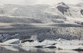 Iceland. Southeast area. Fjallsjokull glacier. — Stock Photo