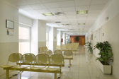 Waiting area and surgery rooms at medical center — Stock Photo