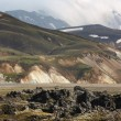 Iceland. South area. Fjallabak. Volcanic landscape with rhyolite — Stock Photo #44196941