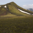 Iceland. South area. Fjallabak. Volcanic landscape with snow. — Stock Photo #44196955