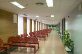 Hospital wating area with chairs. — Stock Photo
