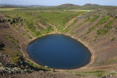 Iceland. South area. Golden Circle. Kerid crater filled with wat — Stock Photo