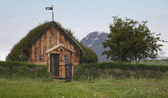 Iceland. Traditional icelandic wooden house. North Iceland — Foto de Stock
