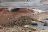 Iceland. Reykjanes Peninsula. Gunnuhver geothermal area.  — Stock Photo