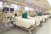 Hospital emergency room with gurneys — Stock Photo