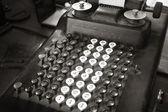 Original antique typewriter calculator in sepia tone — Stock Photo