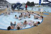 Iceland. Reykjavik. Laugardalslaug swimming pool — Stockfoto