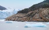 Patagonian landscape. Glacier detail and rocks. Argentina — Stock Photo