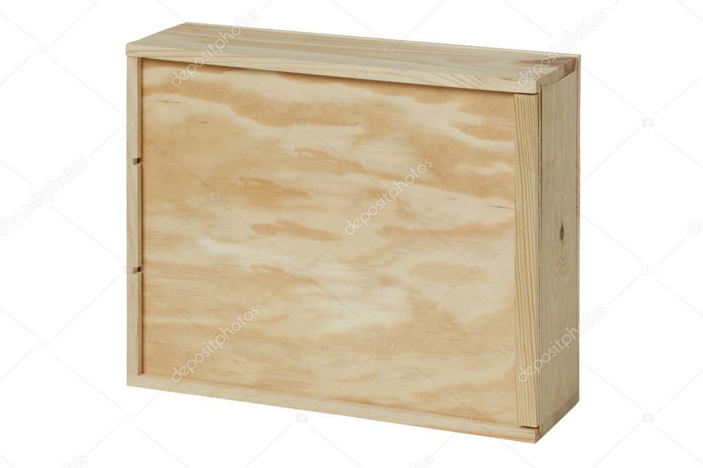 scatola di legno per bottiglie di vino. sfondo bianco — Foto Stock © ABBPhoto #46285471