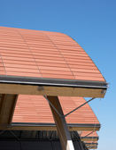 Ceramic roof detail of a modern construction — Stock Photo