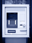 Automated teller machine in blue tone — Stockfoto