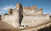 античный средневековый замок. средневековый. медина-дель-кампо. испания — Стоковое фото