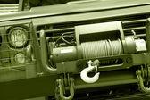 Dettaglio motore di azionamento veicolo catena a quattro ruote — Foto Stock