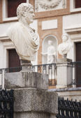 Marble sculptures in a neoclassical building — Stock Photo