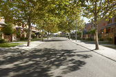 Quiet street view in a residential area — Photo