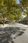 Quiet street view in a residential area — Foto de Stock