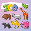 Color Zoo Vector — Stock Vector #17387373