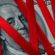 Money_Dollars_Red_Ribbon — Stock Photo