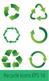 Recyle Icons — Stock Vector