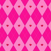 Valentines day argyle pattern — Stock Vector