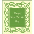 Saint Patricks day card — Stock Vector