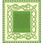 Aziz Patrick günü kartı — Stok Vektör