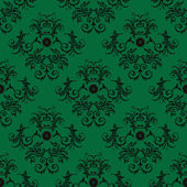 Green Damask pattern — Stock Photo