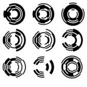 Círculos geométricos — Vector de stock