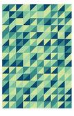Grön retro triangulärt mönster — Stockvektor
