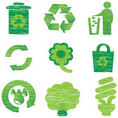 Eco & Recycle icons — Stock Vector