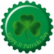 Stock Vector: Saint Patricks day Bottle cap
